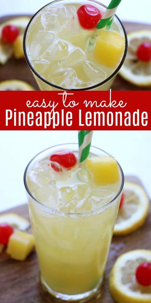 Pineapple Lemonade Recipe - How to make lemonade with pineapple