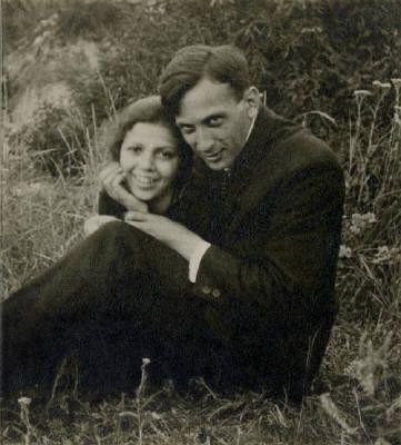 Artist: Estate of André Kertész, Title: Untitled [Self-portrait with Elizabeth], 1921