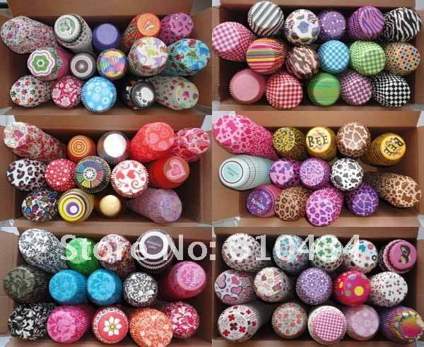 Wholesale Assorted 1200 pcs 48 styles Paper Baking Cups Cupcake ...