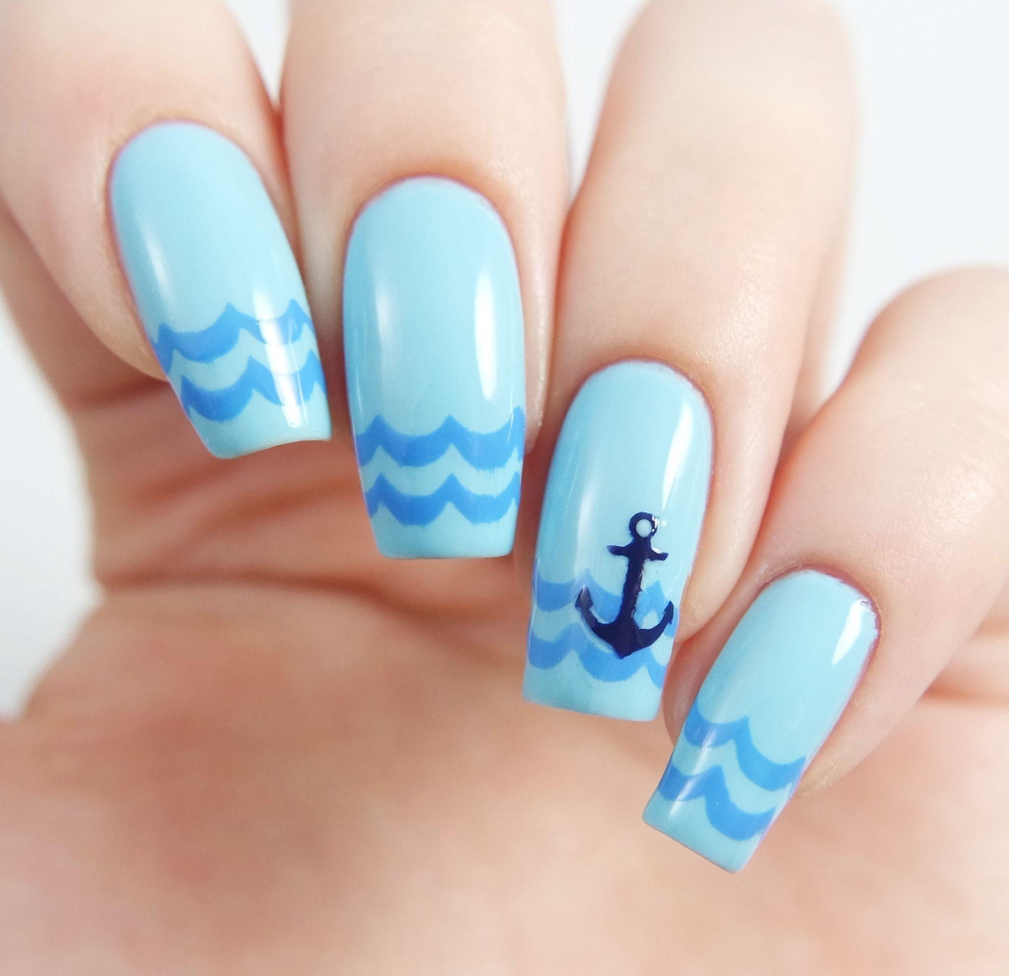 Anchor Nail Decal/ Nail Stencils | Anchor nails, Nail stencils and ...