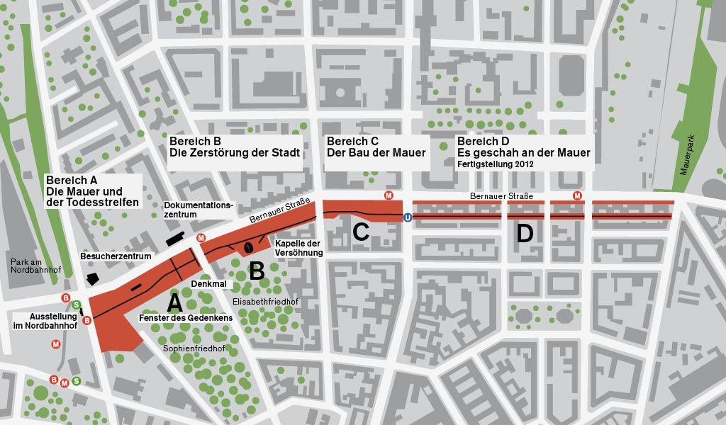 Lageplan Der Gedenkstatte Berliner Mauer Berliner Mauer Gedenken Denkmal