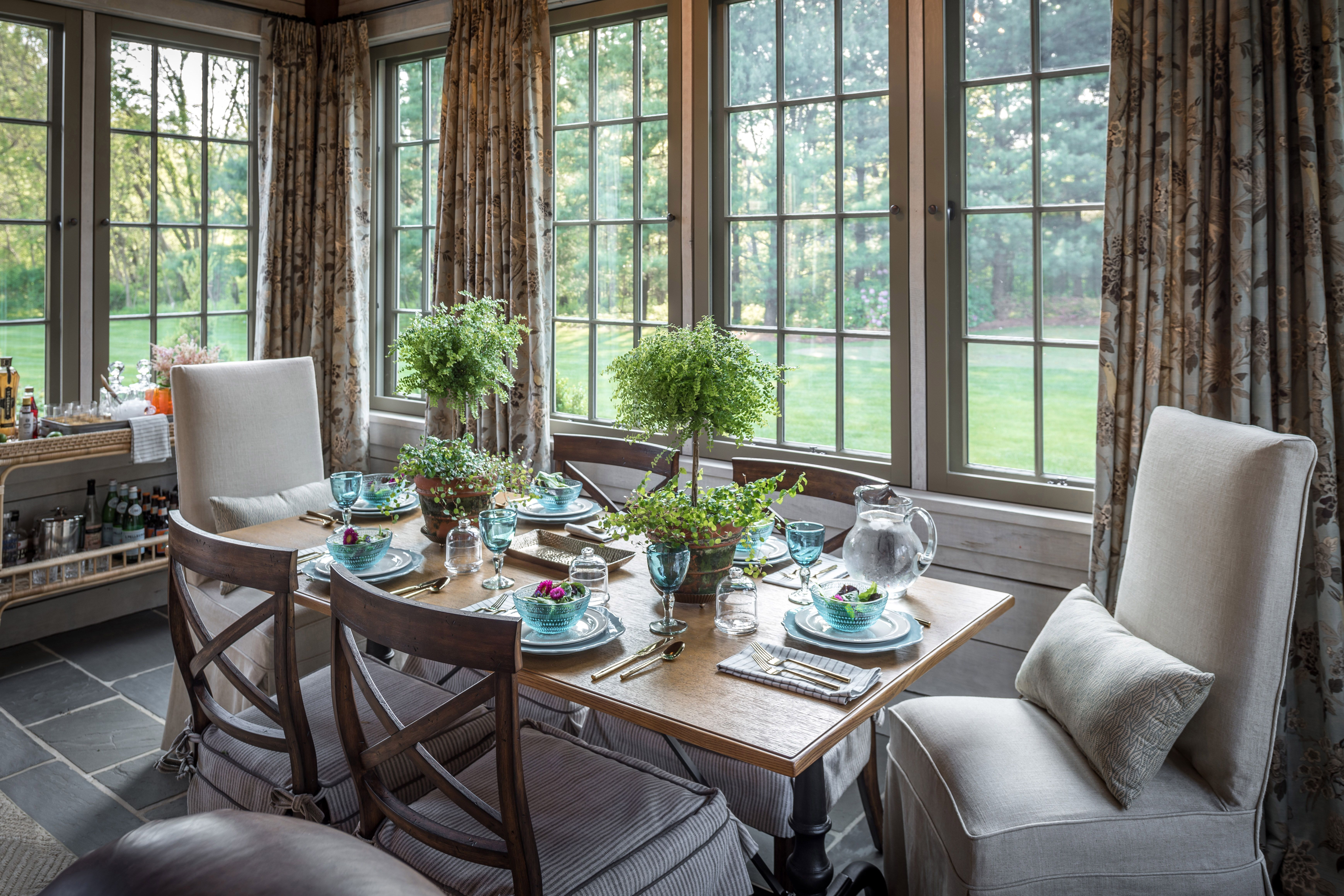 Four Season Porch Dining Area dining room Pinterest