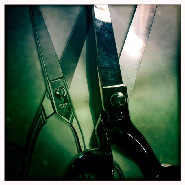 ciseaux en miroir