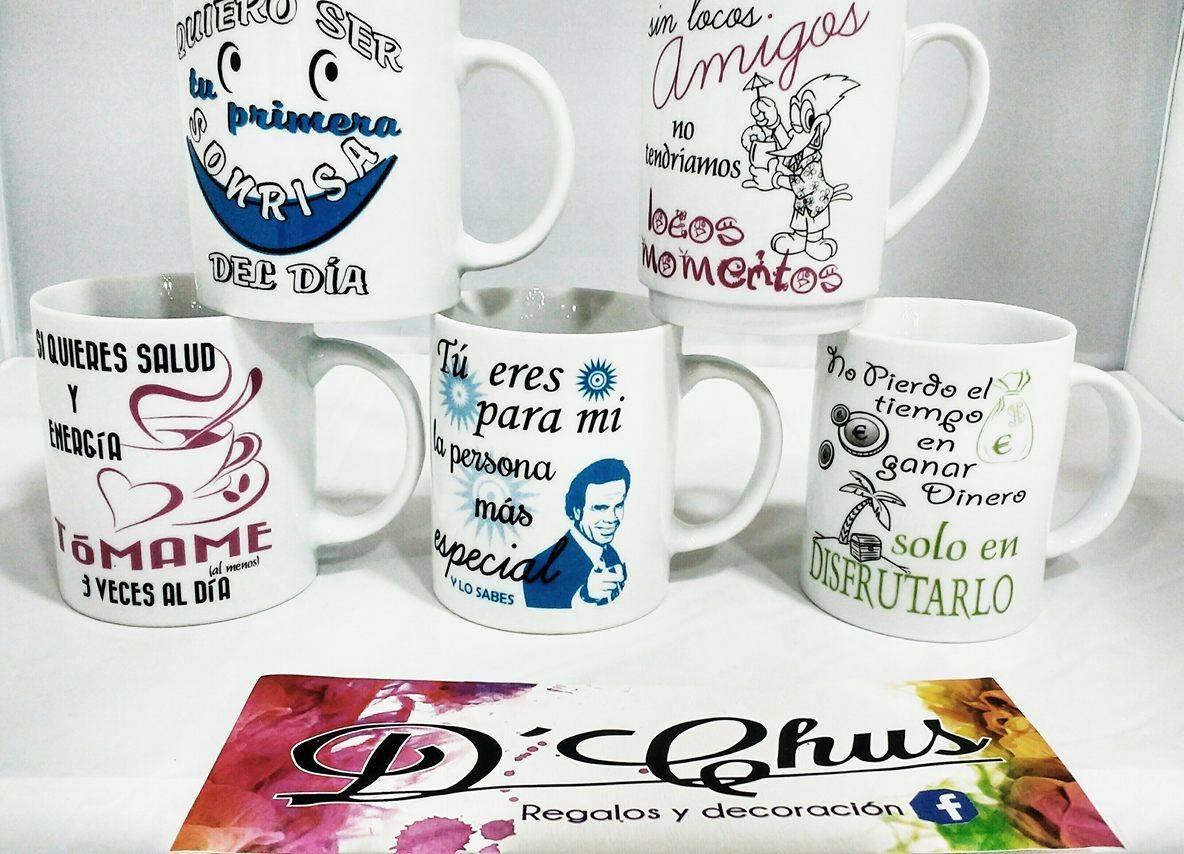 Tazas de caf del modelo mensajes dchusregalos dchus for Modelos de tazas