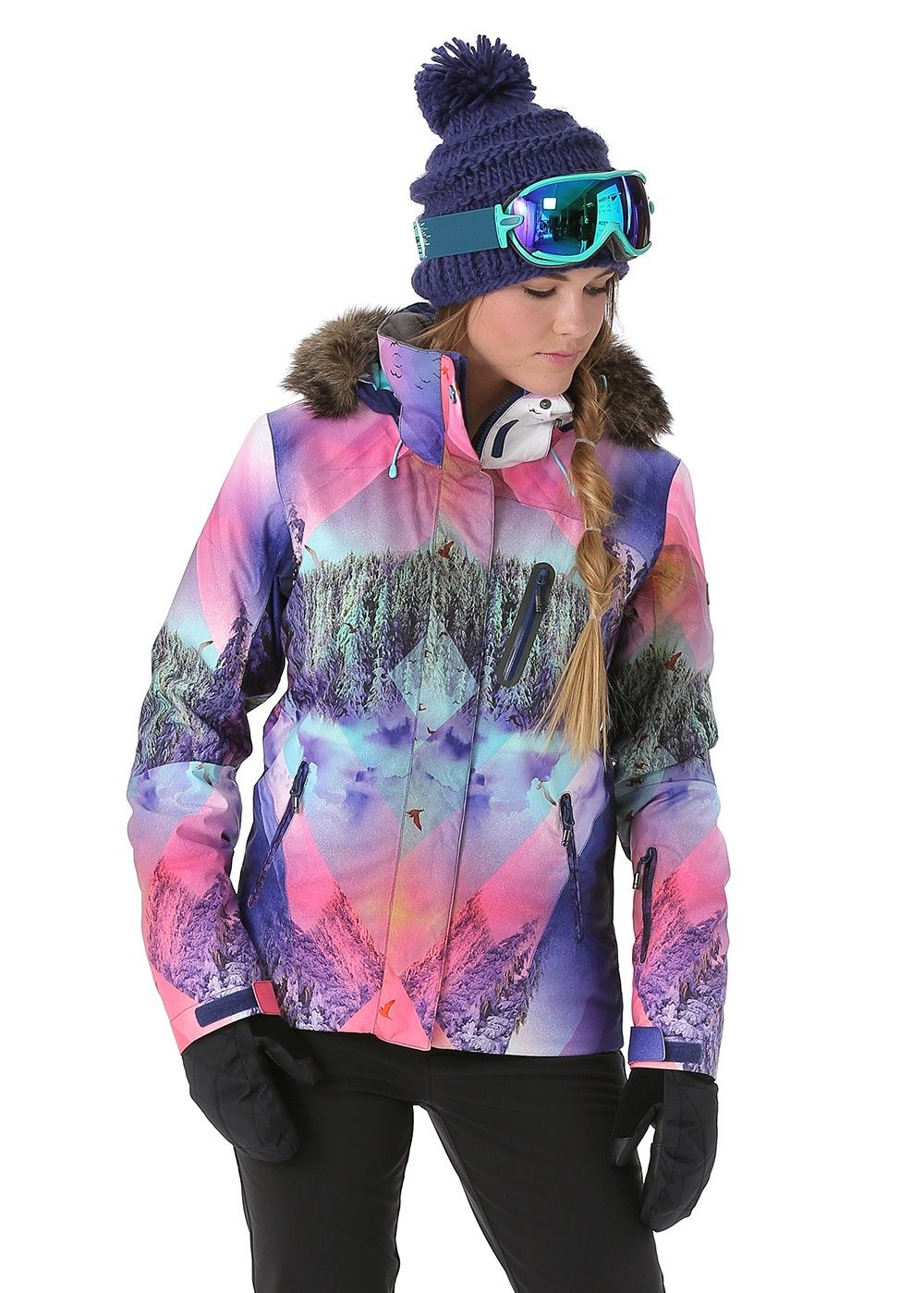 cf3c0580a4 Roxy Women's Jet Ski Premium Jacket in 2019 | Winter Fashion for ...