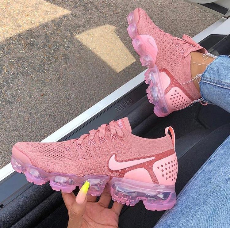 Nike Air Vapormax Shoes Nike air vapormax rustic pink | Pink nike shoes, Workout shoes ...