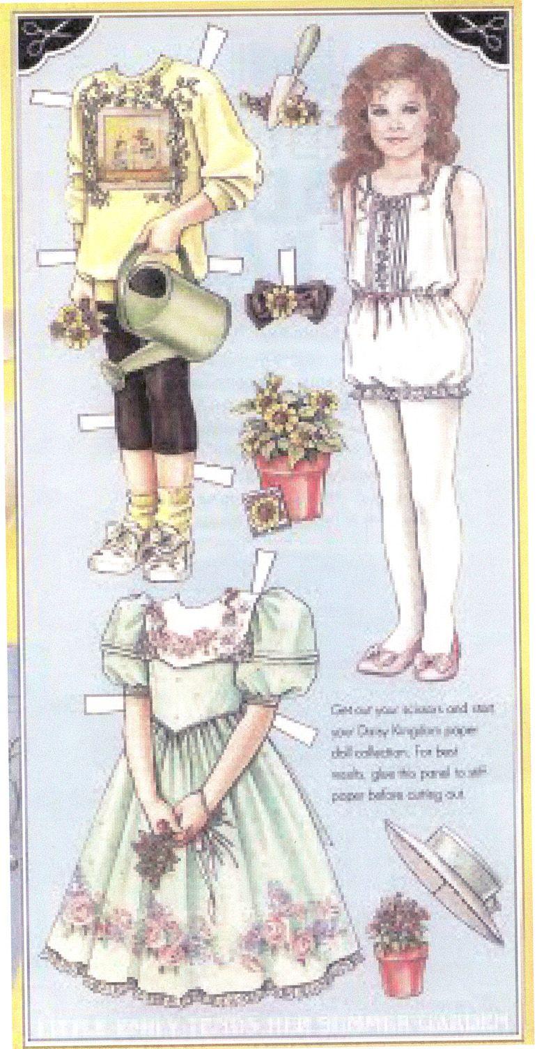 Daisy Kingdom paper doll