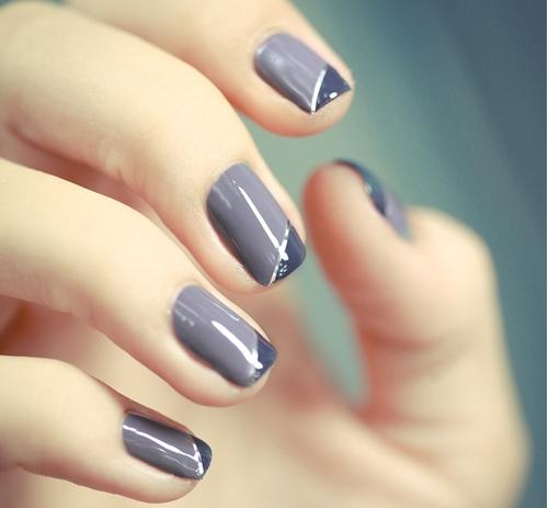 Dainty two-toned nail art - Dainty Two-toned Nail Art Nail Art Pinterest Change, Manicure