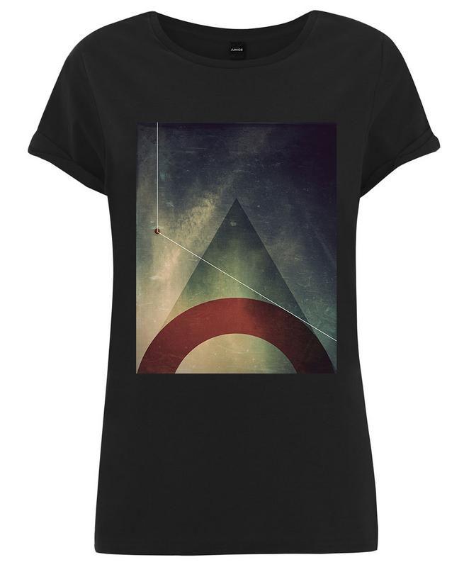 Triangle circle half als Frauen T-Shirt von Danny Ivan | JUNIQE