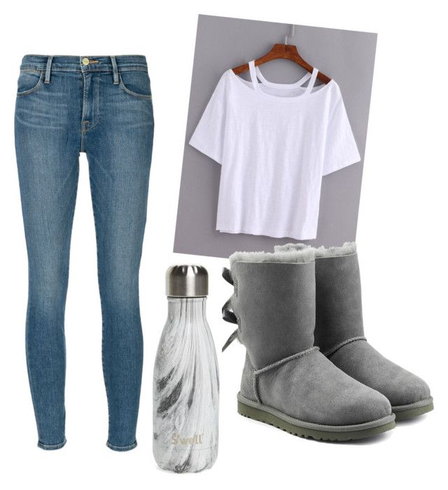 """""""Untitled #38"""" by oliviakhove on Polyvore featuring Frame Denim, UGG Australia and S'well"""