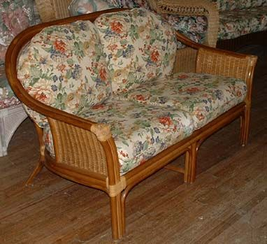 Jamaica Rattan Love Seat Indoor Wicker Furniture Rattan