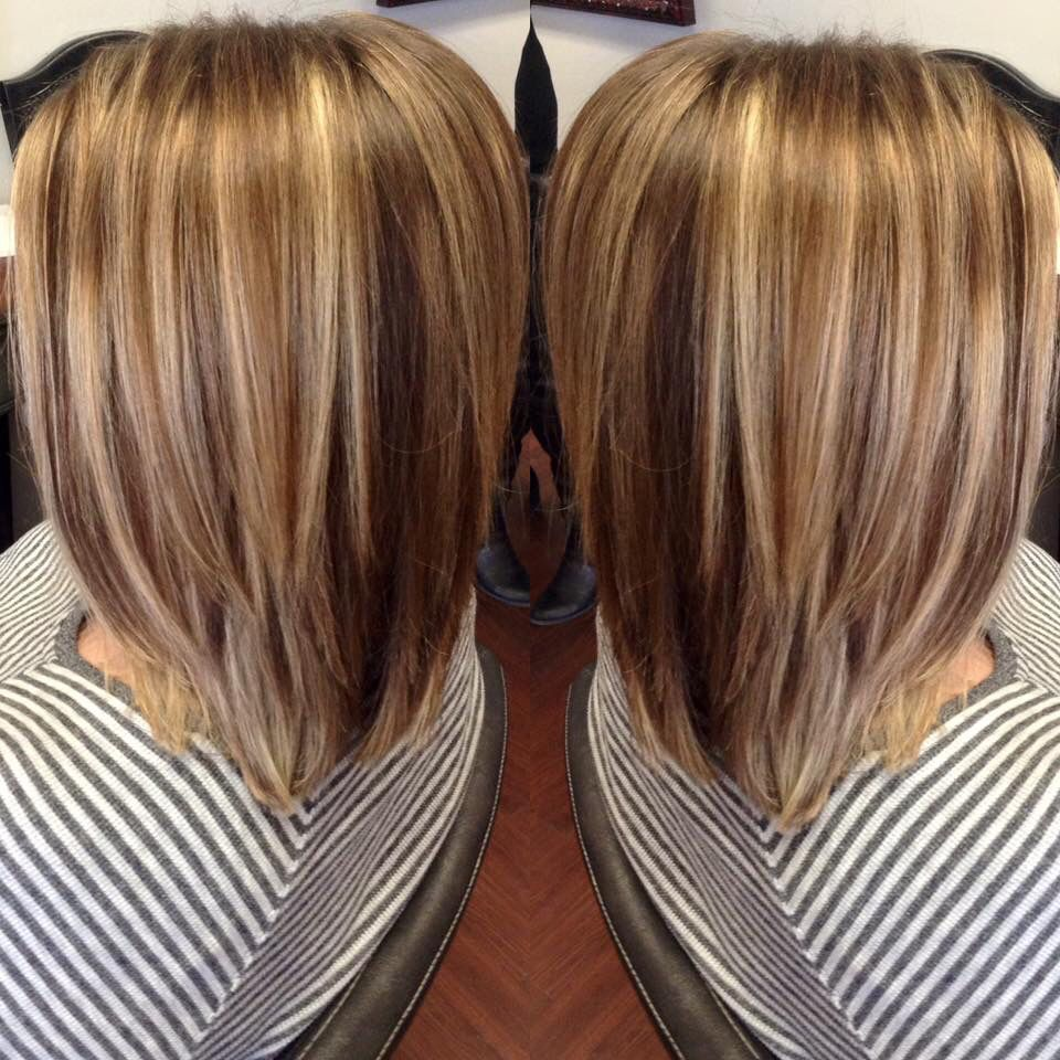 Brown with carmel highlights by seanie at pinup curls beauty