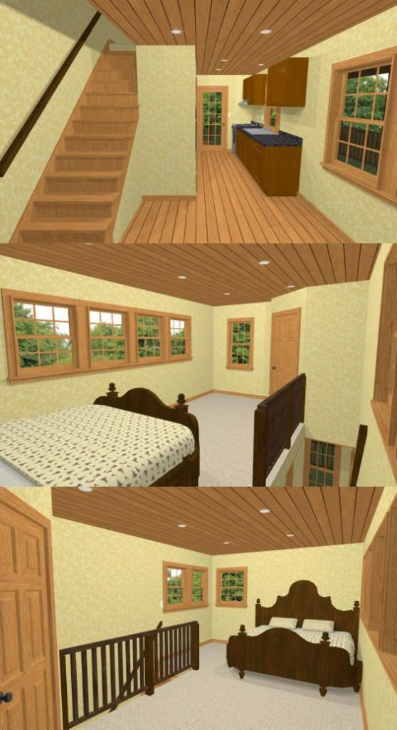 12x20 Tiny House 12x20h3b 464 Sq Ft Excellent Floor Plans Tiny House Floor Plans Tiny Guest House Tiny House Loft