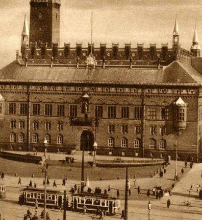 Copenhagen Radhuspladsen 1900 Public Life Billeder Danmark Steder