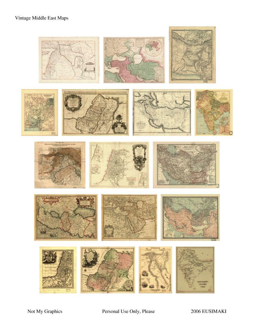 Dollhouse  1:12 scale Miniature    VICTORIAN WORLD MAP Print
