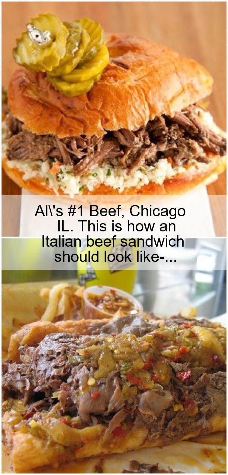 Al's 1 Beef, Chicago IL. This is how an Italian beef
