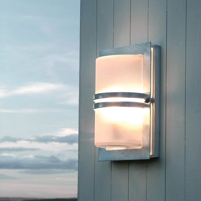 Norlys basel outdoor wall light stainless steel with frosted glass norlys basel outdoor wall light stainless steel with frosted glass aloadofball Image collections