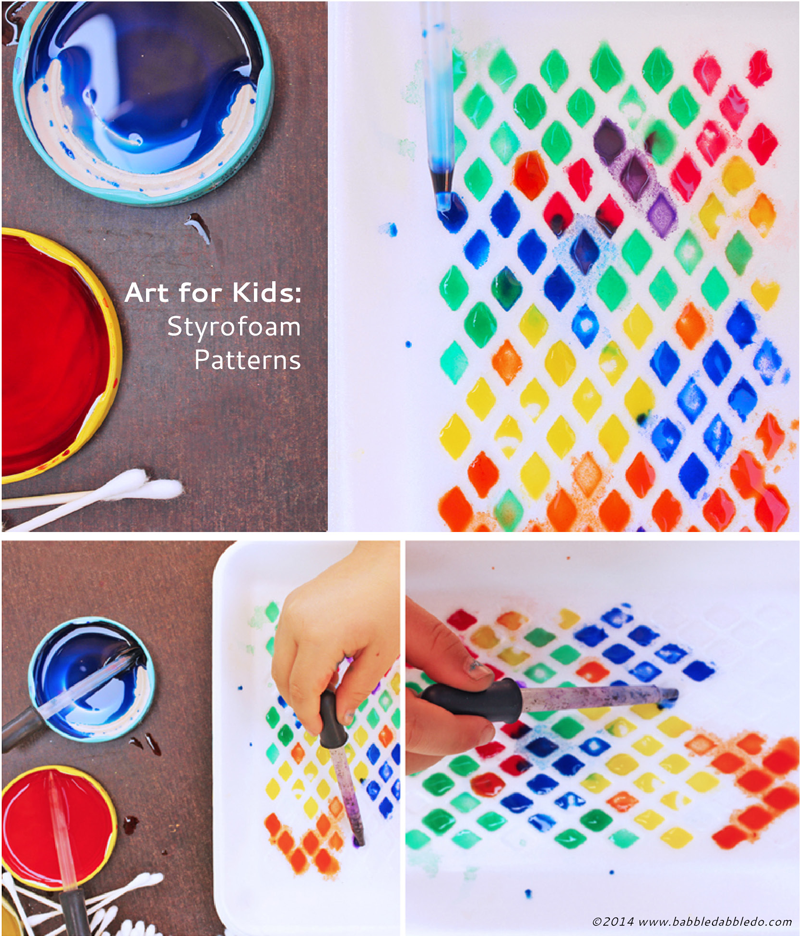 Art Activities For Kids Styrofoam Patterns Learning Arts And