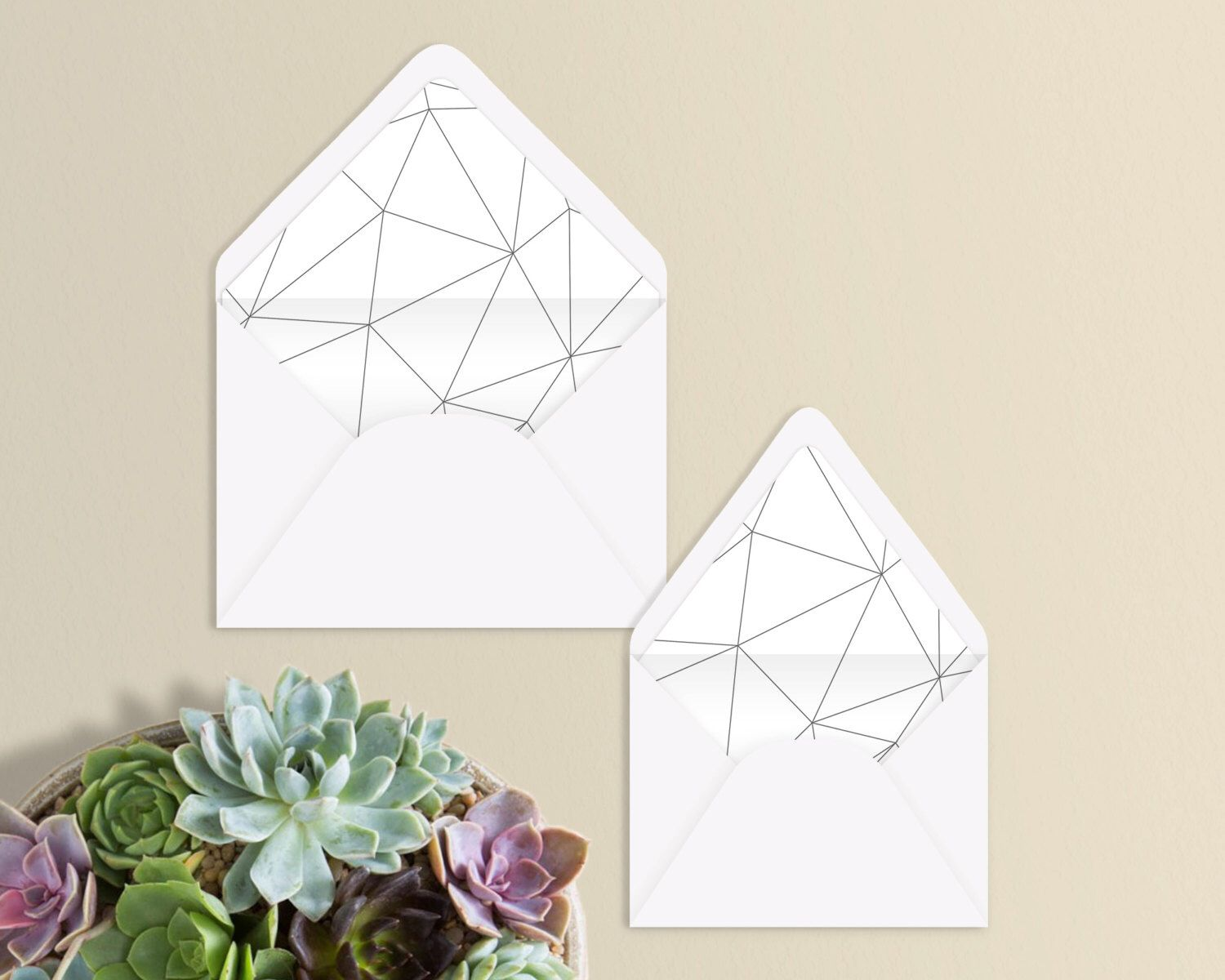 Geometric Design Envelope Liner  A And A  Euro Flap By