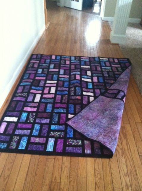 Batik Quilt Uses 2 5 Quot X6 5 Quot Strips And 1 5 In Sashing