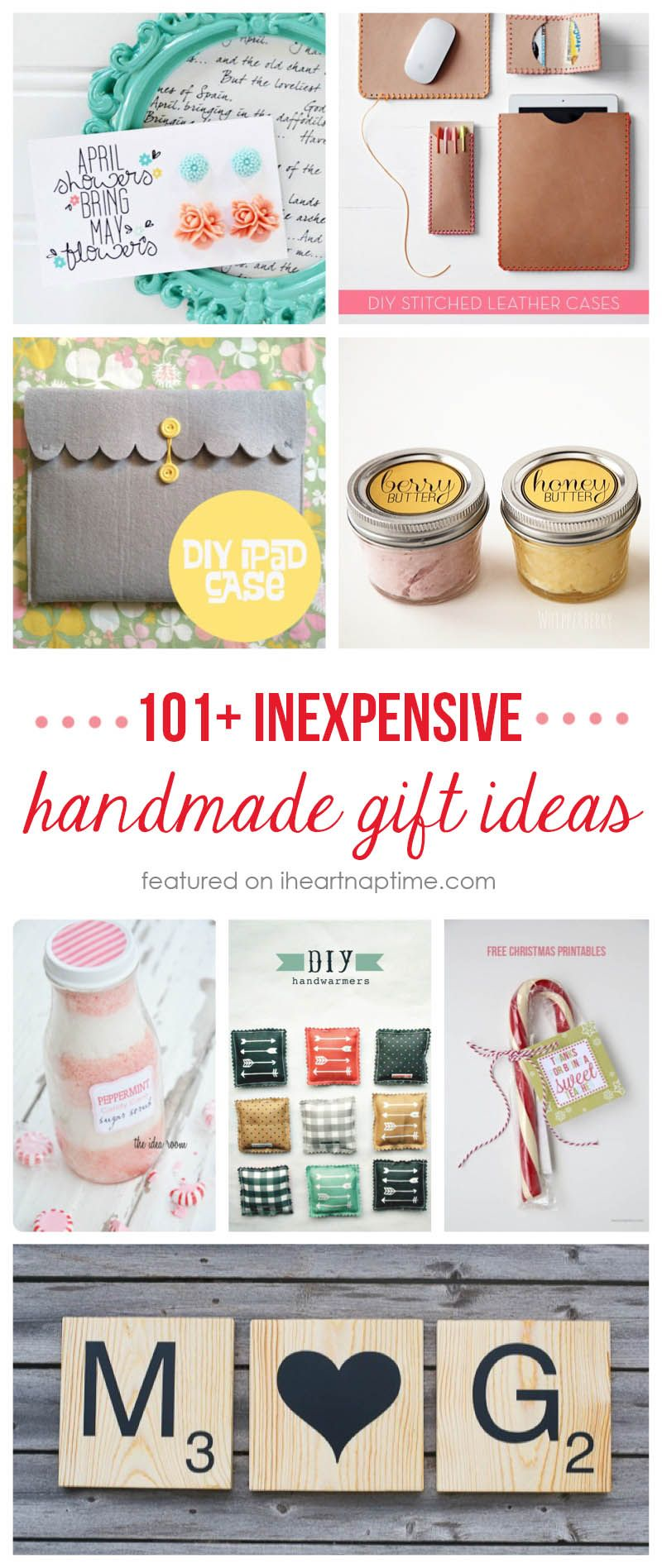 101+ inexpensive handmade Christmas gifts on iheartnaptime.net ...