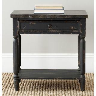 @Overstock.com   Safavieh John Antiqued Black Side Table   Antique Black  Fir Wood
