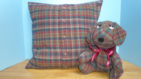 Memory Pillow Slipcover Amp Stuffed Animal Made From One