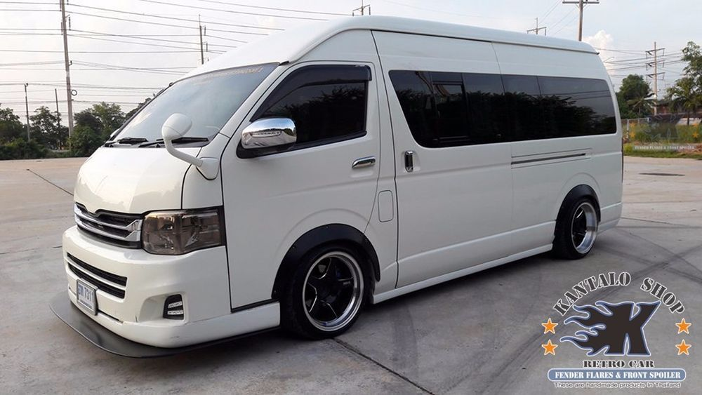 Jdm fender flares wheel arch for toyota hiace commuter
