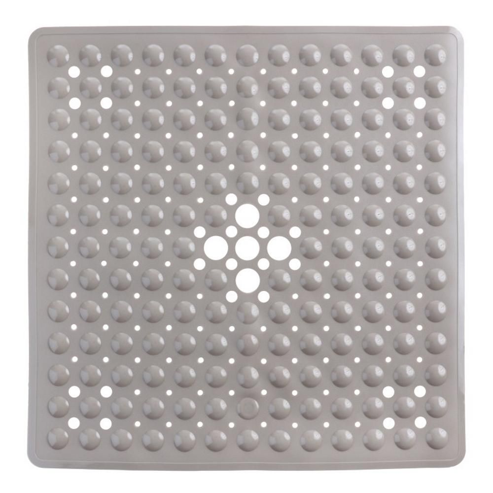 Slipx Solutions 21 In X 21 In Square Shower Mat In Tan Non