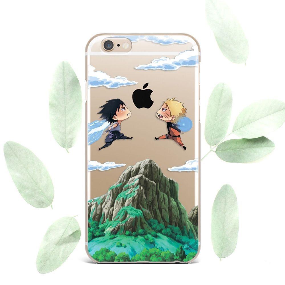 Cute naruto sasuke iphone x xs max xr silicone cover anime