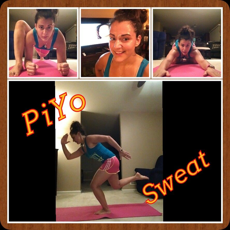 Day 4 of PiYo! The sweat workout is amazing and they don't call it sweat for nothing. The best part is that I can feel myself already getting stronger!
