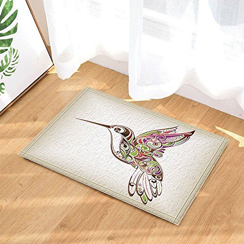 NYMB Cute Bird Decor, A Lovely Hummingbird Bath Rugs For Bathroom, Non Slip  Floor Entryways Outdoor Indoor Front Door Mat, Kids Bath Mat, 15.7x23.6u2026