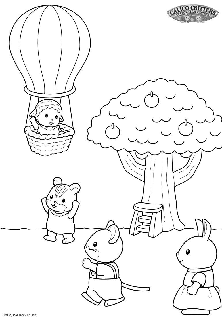 17 Coloring Pages Of Calico Critters On Kids N Fun Co Uk On Kids N Fun You Will Always Find T Chibi Coloring Pages Toddler Coloring Book Family Coloring Pages