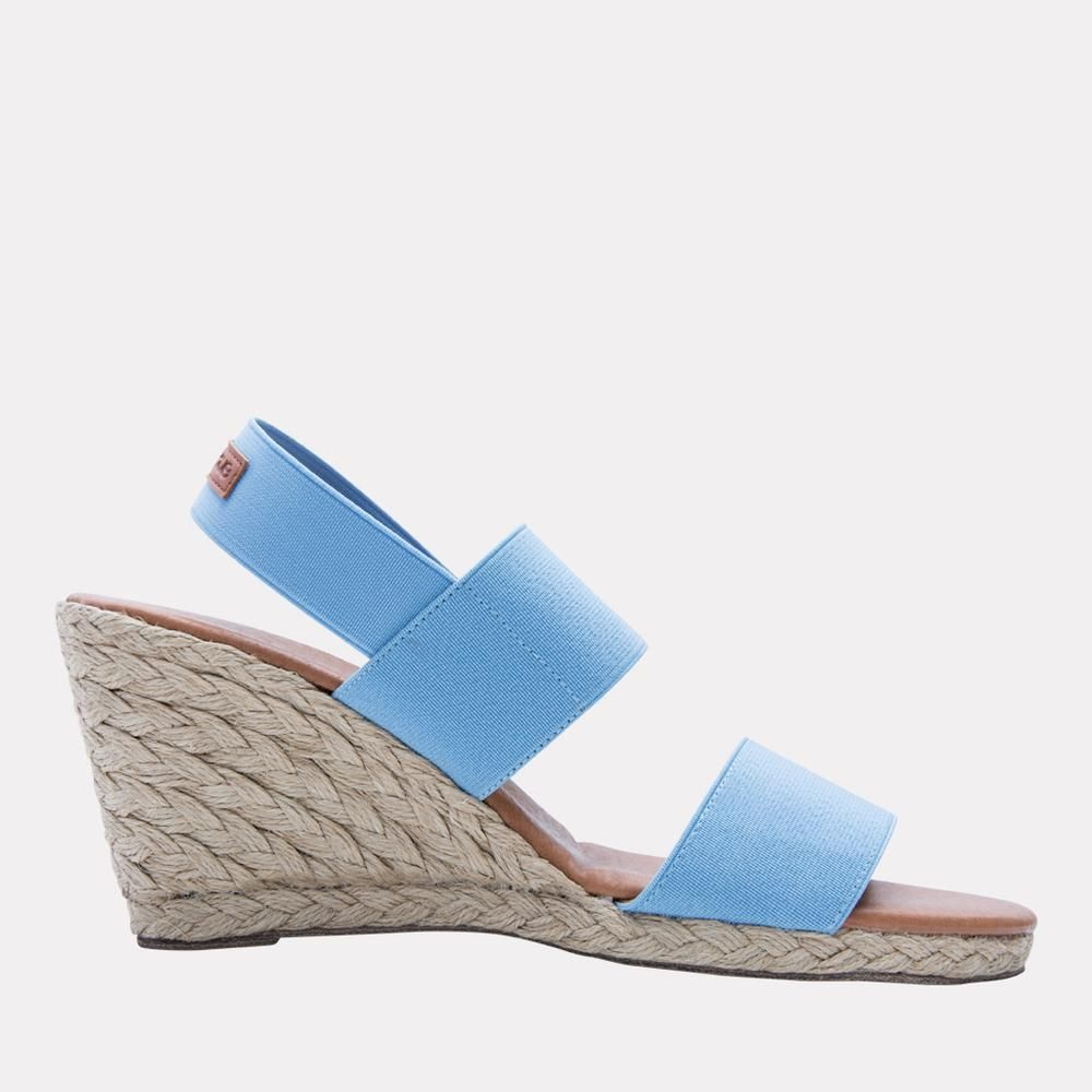 a30c55ef160 Allison Elastic Wedge (Celeste Blue) | 4th of July Outfits | Wedges ...