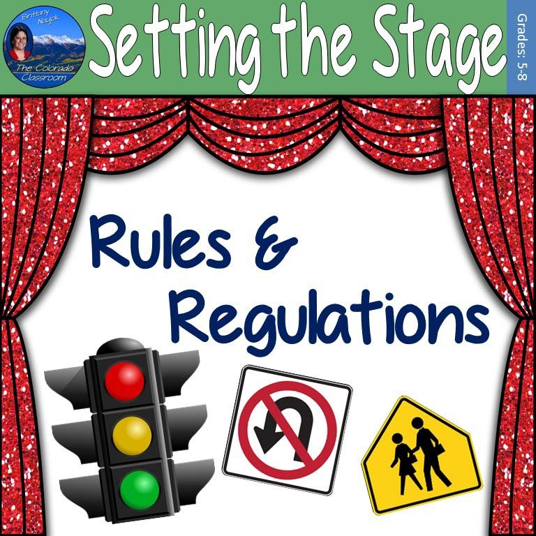 Setting the Stage: Rules and Regulations Lesson Plan ...