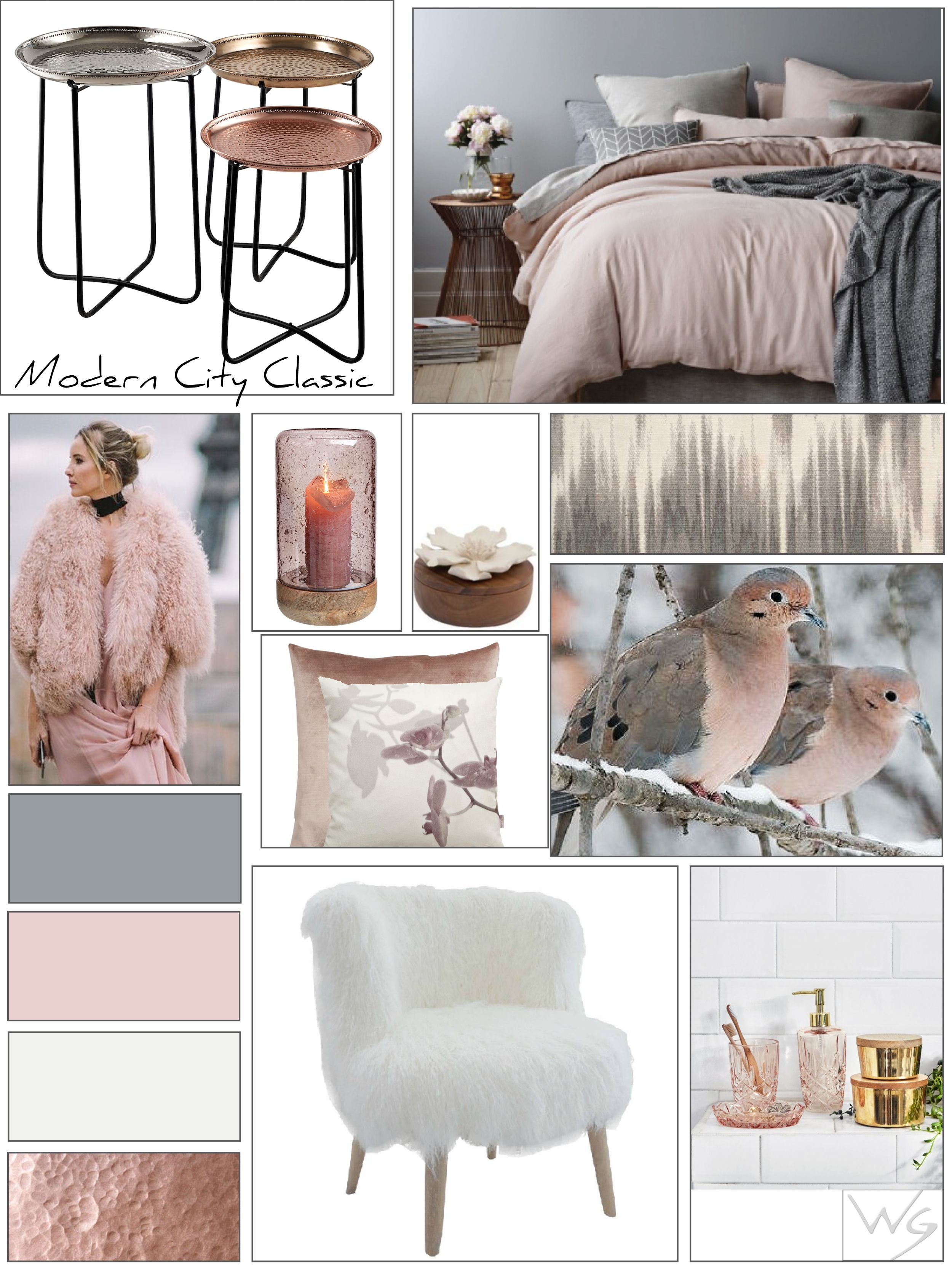 Best 2016 7 Color Trend Blush Pink Beautiful Mood Board 400 x 300