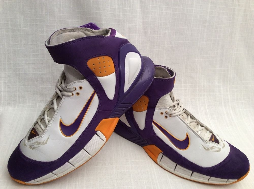 online store a8850 b47ae VINTAGE NIKE AIR ZOOM HUARACHE 2K5 LAKERS EDITION MEN S SIZE 12 BASKETBALL  SHOES  Nike  BasketballShoes