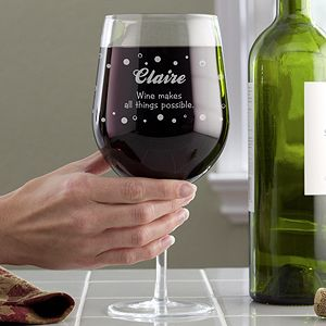 Big Vino Whole Bottle Personalized Wine Glass Huge Wine