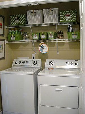Small Laundry Closet Makeover - Eat. Sleep. Decorate.