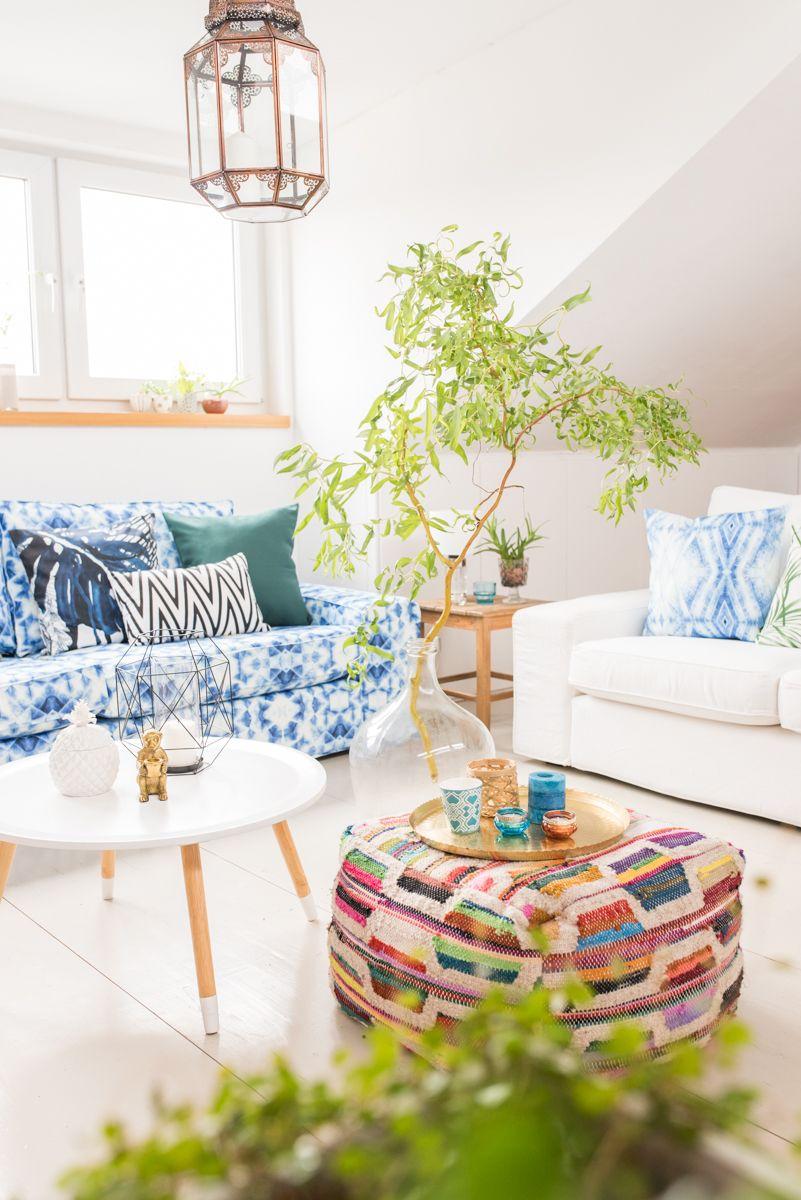 Die Galerie im Juni - Sommer, Farben, Mustermix | Sofa covers ...