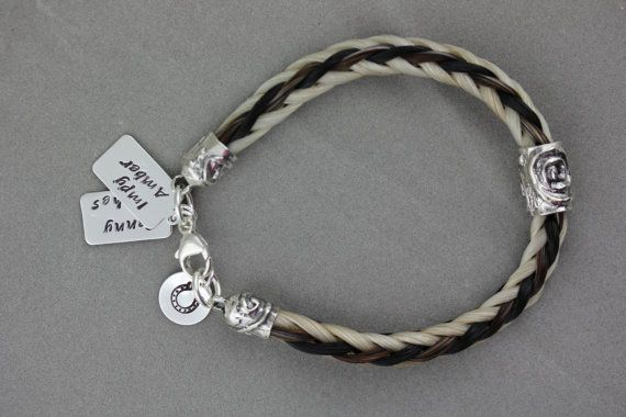 Horse Hair Bracelet made from your Horse/'s tail.Square braid Sterling Silver.
