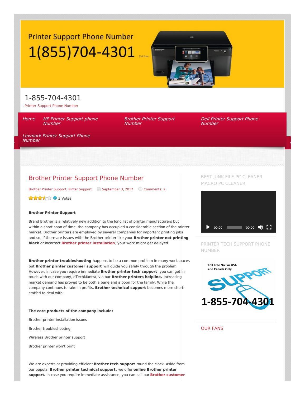 Printer Support Phone Number 1 855 704 4301 Printer Phone