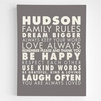 Personalized Family Rules Wall Art Family Rules Wall Art Personalized Family Rules Family Rules