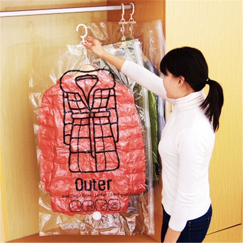 12a7a54f16ec  32914501118 Aliexpress Can Hang Vacuum Bag For Clothes Foldable  Transparent Border Compression Organizer Pouch Sealed Storage Bags Save  Space organizer on ...