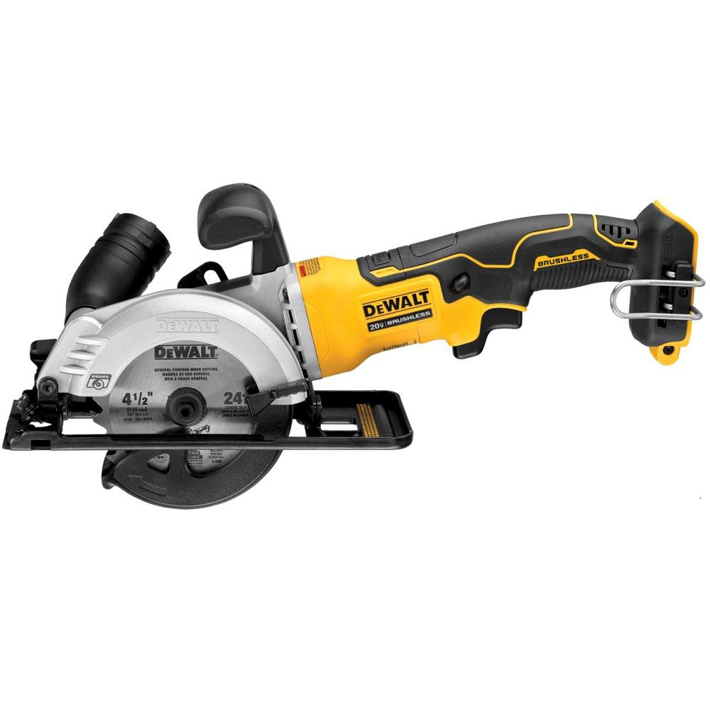 Dewalt Atomic 20 Volt Max Cordless 4 1 2 In Circular Saw Tool Only Dcs571b The Home Depot Compact Circular Saw Dewalt Circular Saw