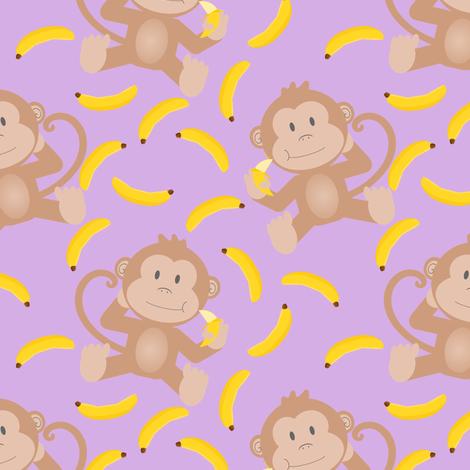 Colorful Fabrics Digitally Printed By Spoonflower Monkey Munching Bananas Purple Purple Wallpaper Iphone Monkey Wallpaper Purple Wallpaper