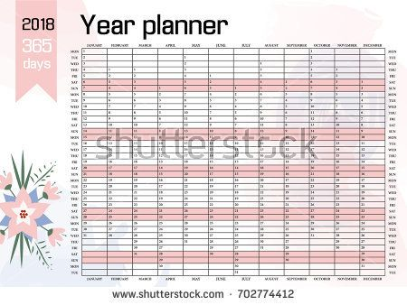 year wall planner plan out your whole year with this 2018 wall calendar template vector design
