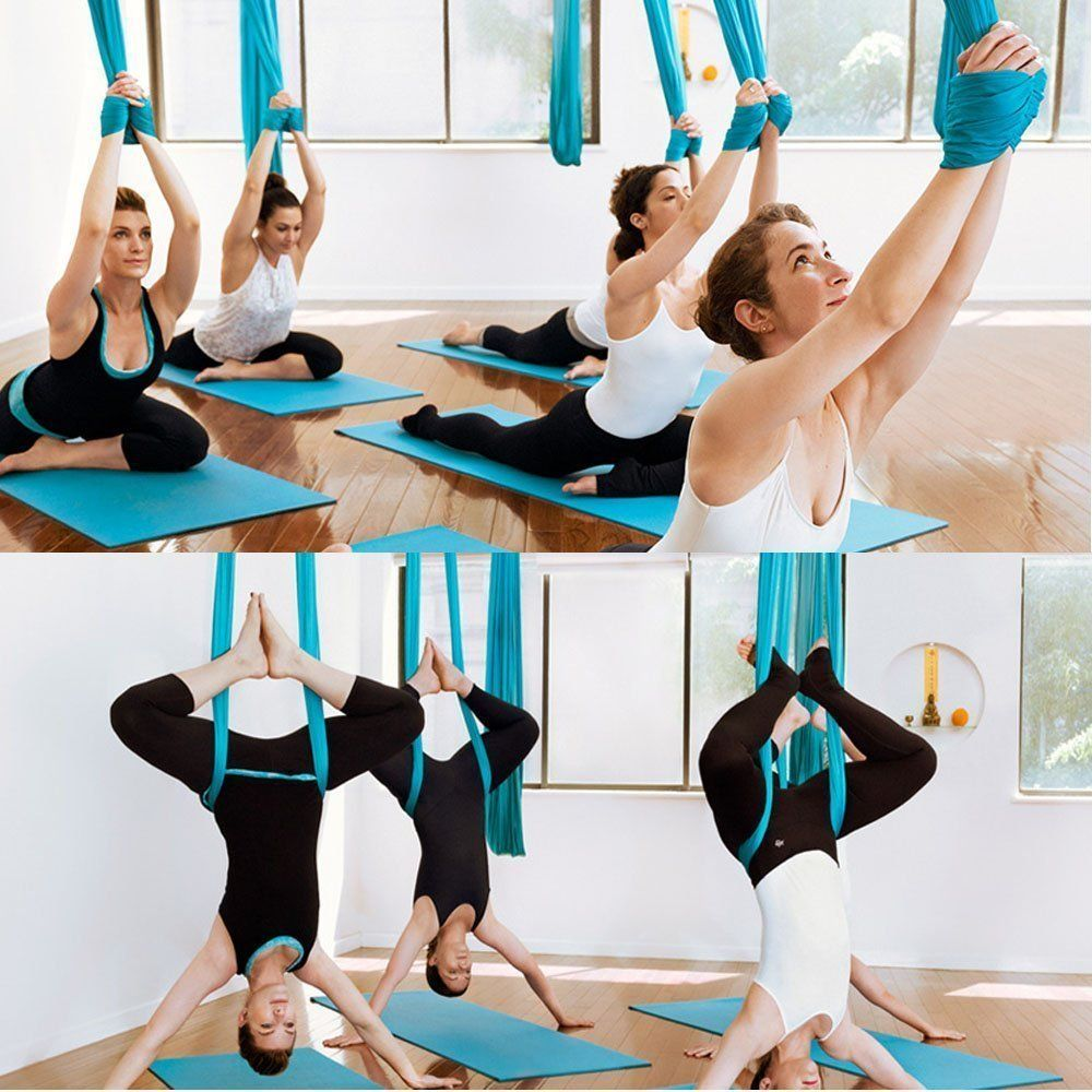 E Everking Everking Aerial Yoga Straps Trapeze Antigravity Yoga Swing Sling Inversion Toolair Flying Yoga Hammock Belt Aerial Yoga Yoga Swing Yoga Inversions