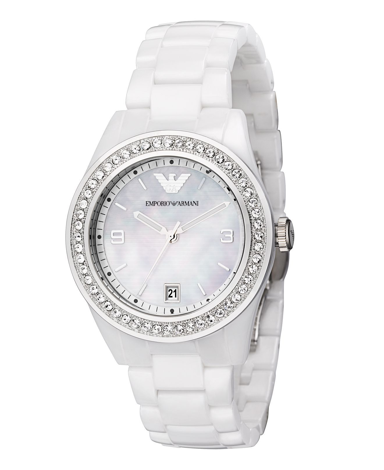 Emporio Armani Watch Women S White Ceramic Bracelet Ar1426 Women S Watches Jewelry Watches Crystal Watches Bracelet Watch Emporio Armani Ladies Watches