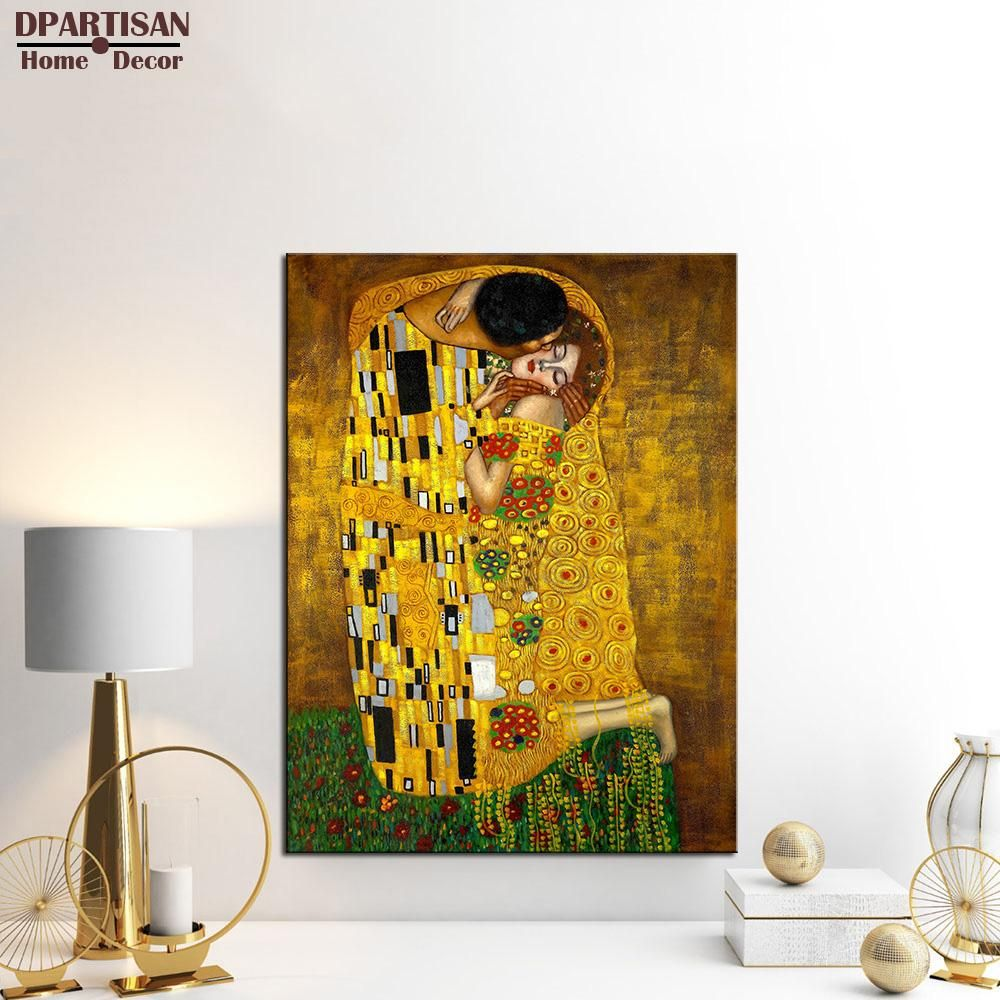 DPARTISAN Gustav Klimt printed oil painting on canvas wall art ...